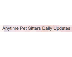 Anytime Pet Sitters, LLC logo