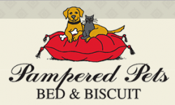 Pampered Pets Bed and Biscuit logo