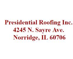 Presidential Roofing's logo