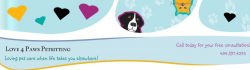 Love 4 Paws Petsitting logo