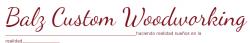 Balz Custom Woodworking, Inc. logo