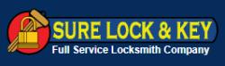 Sure Lock and Key, Locksmith logo