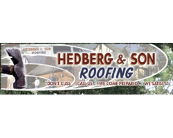 Hedberg and Son Roofing logo