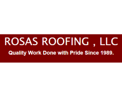 Rosas Roofing, logo