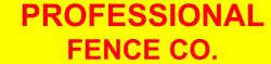 Professional Fence Company logo