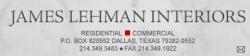 James Lehman Interiors logo