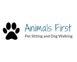 Animals First Pet Sitting logo