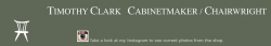 Timothy Clark Cabinetmaker / Chairwright logo