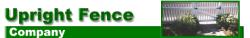 Upright Fence Company logo