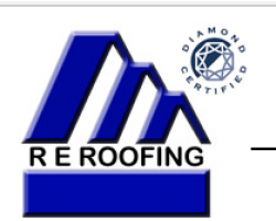 R E Roofing & Construction logo