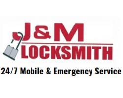 J & M Locksmith logo