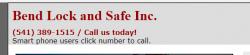 Bend Lock and Safe Inc. logo