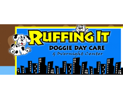 Ruffing It Doggie Day Care & Overnight Center logo