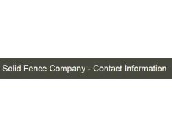 Solid Fence Company logo