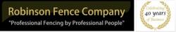 Robinson Fence Company logo