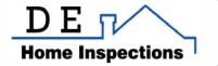 D E Home Inspections logo