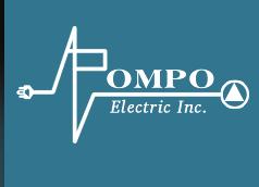 A Pompo Electric Inc. logo
