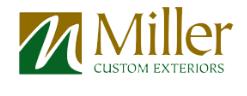 Miller Custom Exteriors. logo