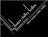 karen claffey-koller interior design logo